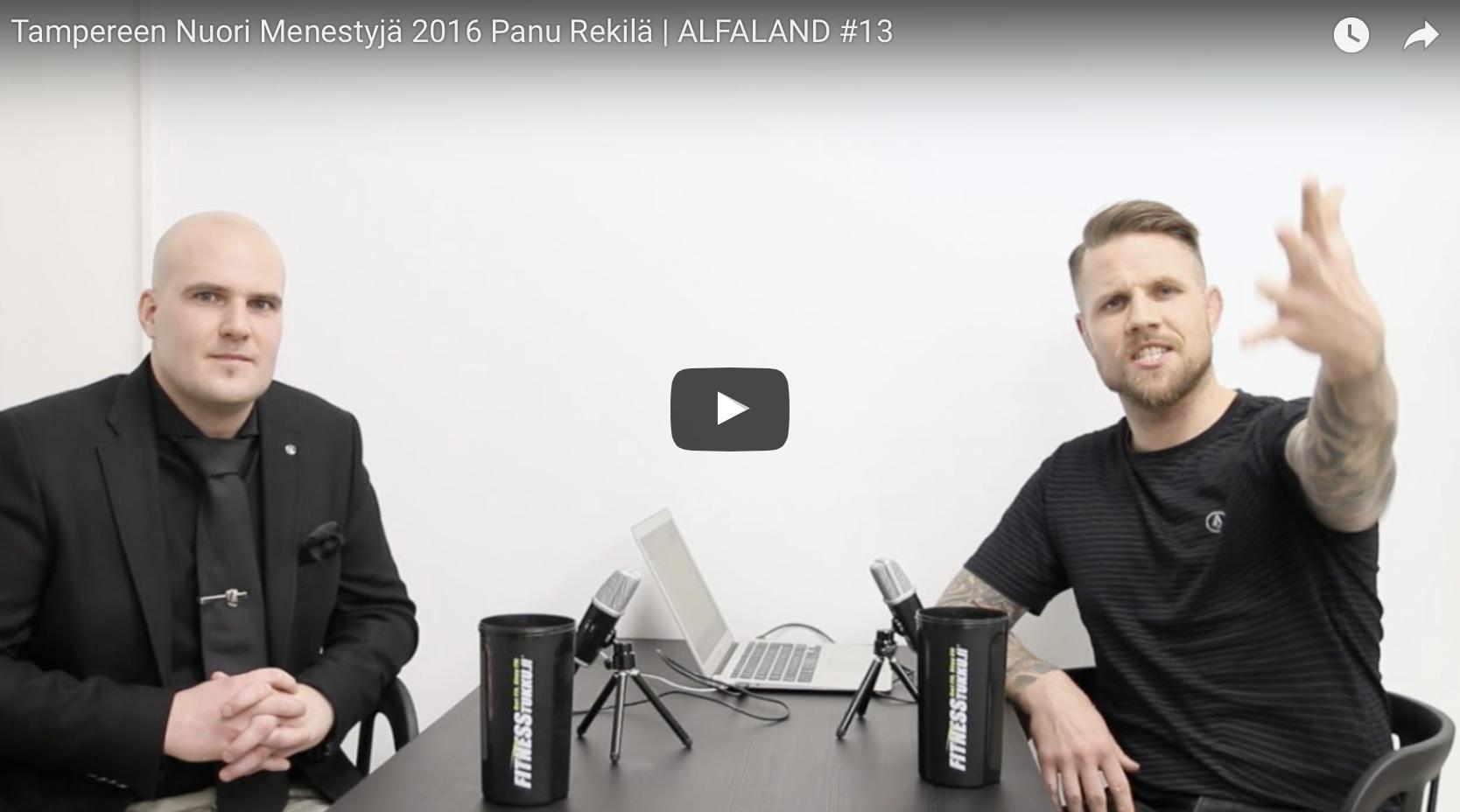 Tampereen Nuori Menestyjä 2016 Panu Rekilä | ALFALAND #13