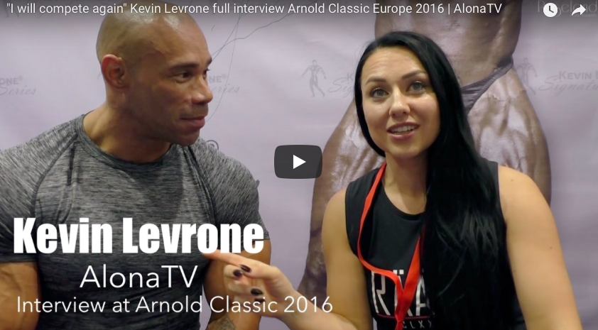 KEVIN LEVRONE FULL INTERVIEW AND POSING AT ARNOLD CLASSIC EUROPE 2016 | ALONATV