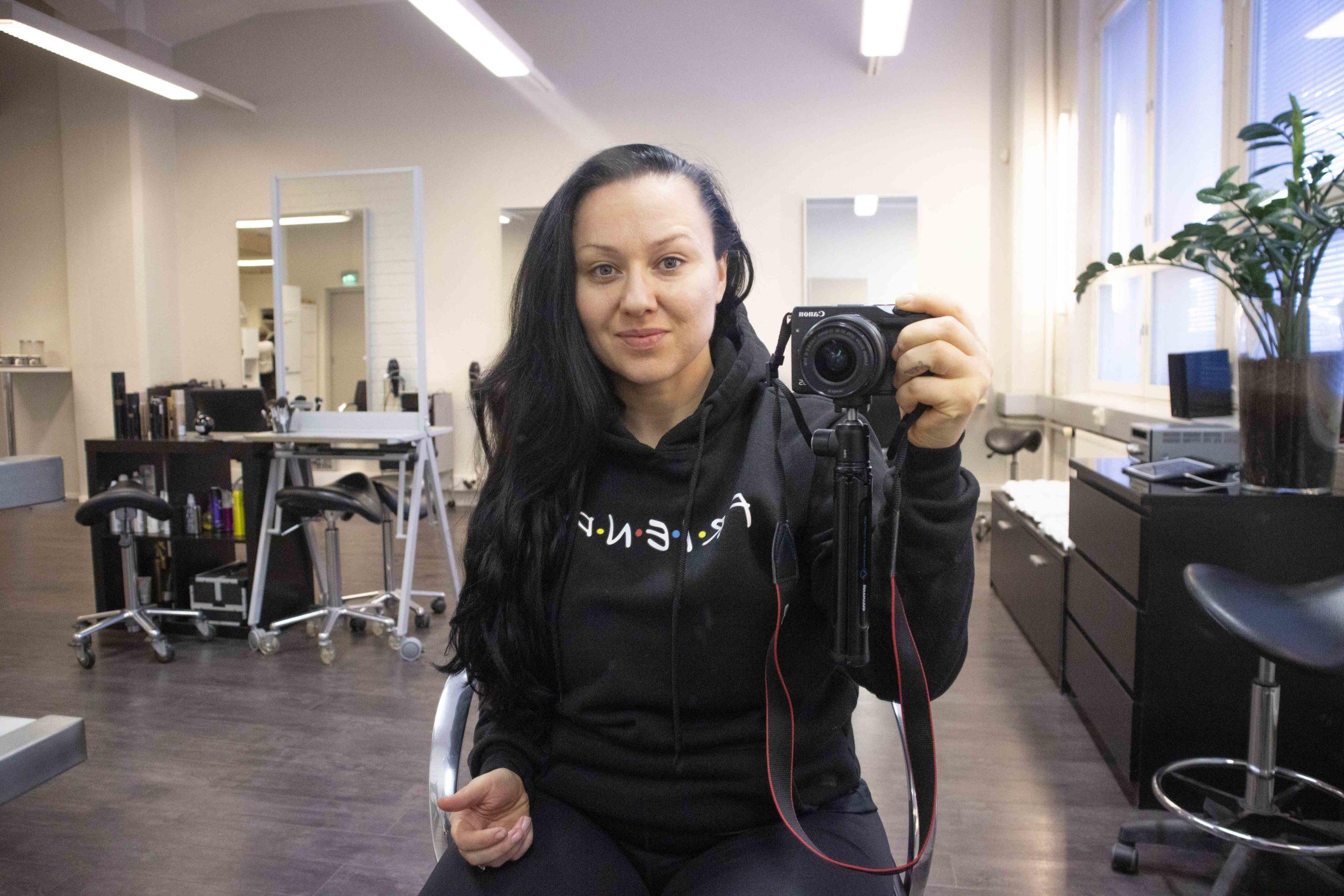 salon da costa kampaaja hiustenvärjäys