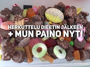 Paino ja ruokailut dieetin jälkeen