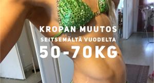 Kropan muutos 7 vuodessa – 50-70kg