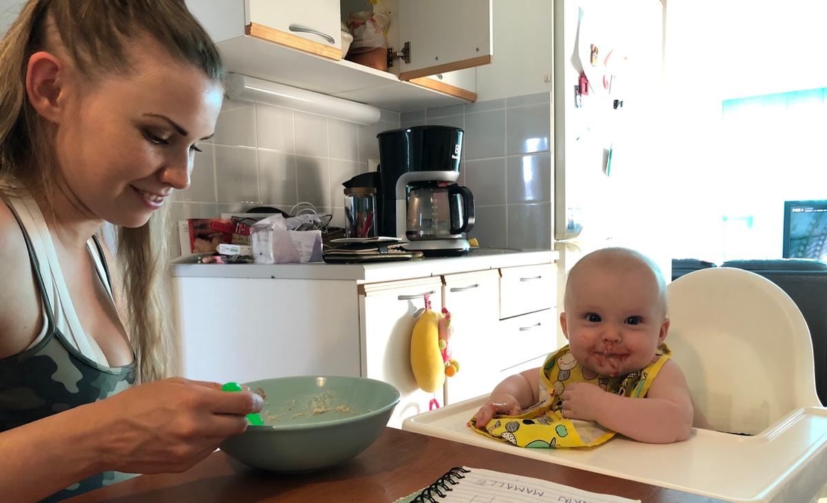 Vauvan 7kk ruokapäiväkirja