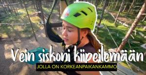 Read more about the article Alona vie korkeanpaikankammoisen siskonsa kiipeilemään puihin