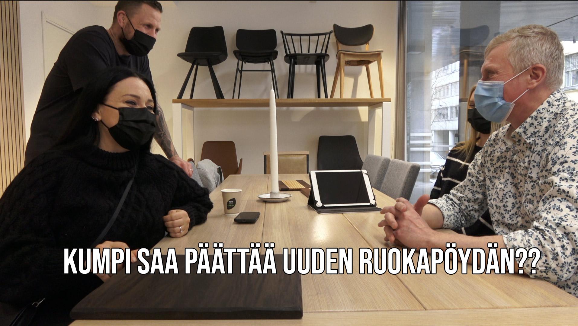 Read more about the article Kumpi saa päättää ruokapöydän valinnassa, Arttu vai Alona?