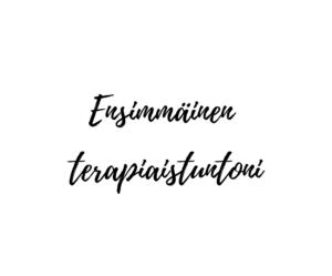 Read more about the article Ensimmäinen terapiaistuntoni
