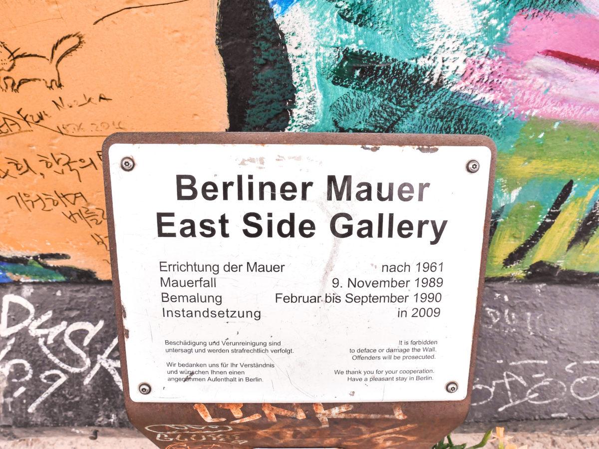 Berliini East side gallery