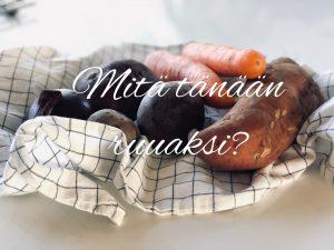 Mitä tänään ruuaksi: lohi ja uunijuurekset