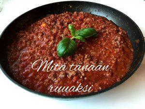 Viikon ruokavinkki: tomaattinen bolognese f. kukkakaali