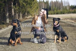 Rottweiler syö oman ja naapurin lapset